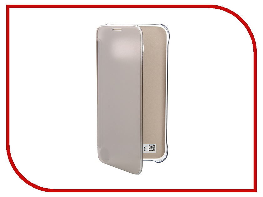 Аксессуар Чехол Samsung Galaxy S7 Clear View Cover Gold EF-ZG930CFEGRU<br>