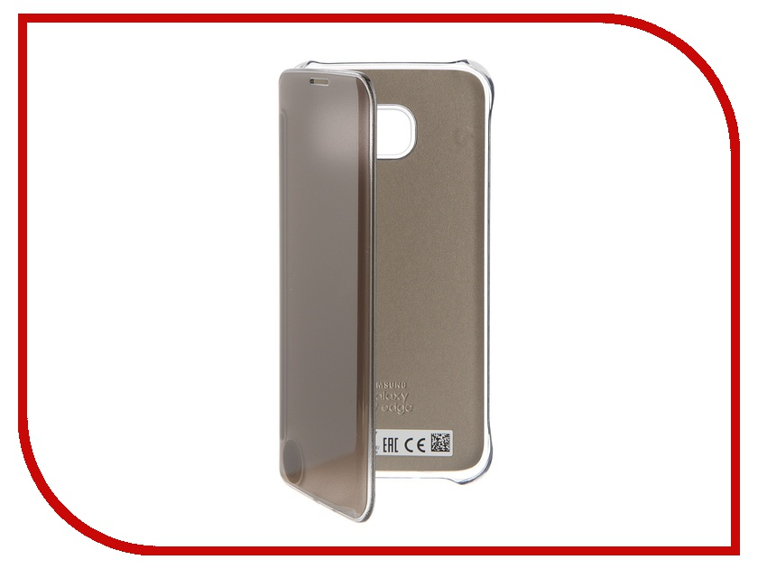 Аксессуар Чехол Samsung Galaxy S7 Edge Clear View Cover Gold EF-ZG935CFEGRU<br>