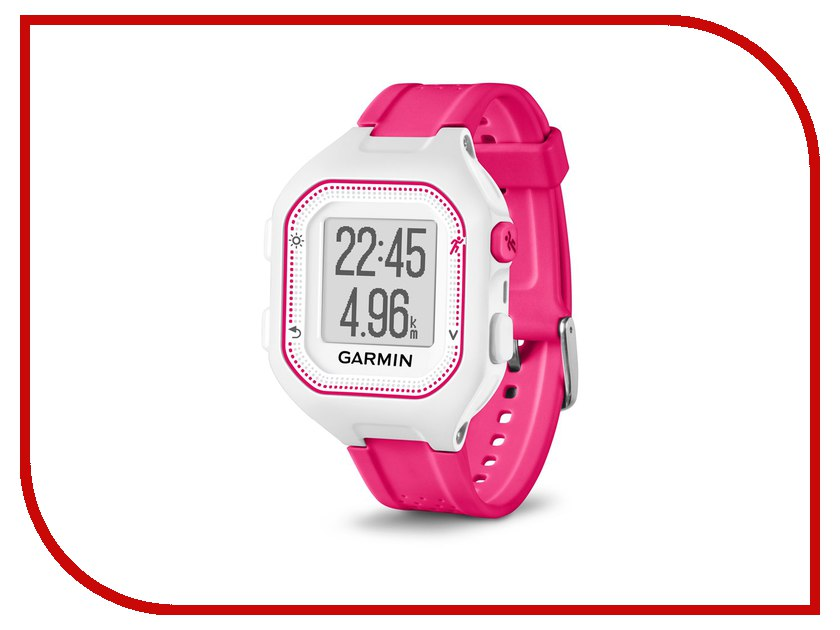 GPS-туристический Garmin Forerunner 25 Small HRM1 White-Pink 010-01353-71<br>