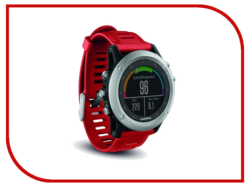 Умные часы Garmin Fenix 3 Silver-Red 010-01338-06<br>