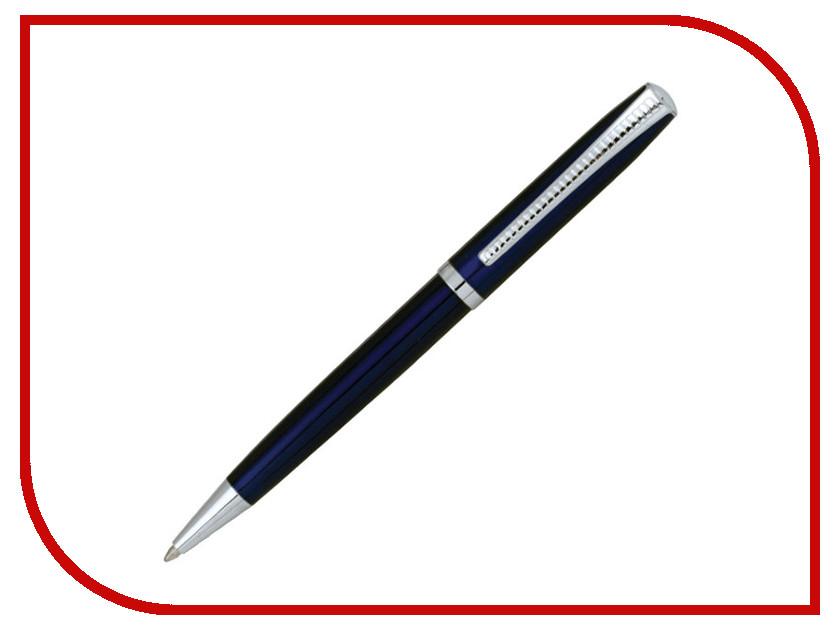 Ручка BRAUBERG Cayman Blue-Silver 141409