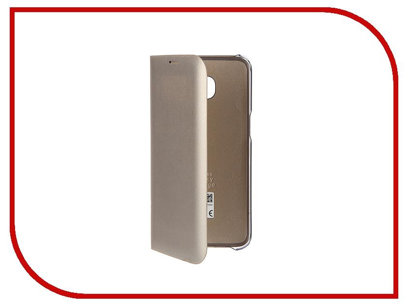 Аксессуар Чехол Samsung Galaxy S7 Edge LED View Cover Gold EF-NG935PFEGRU<br>