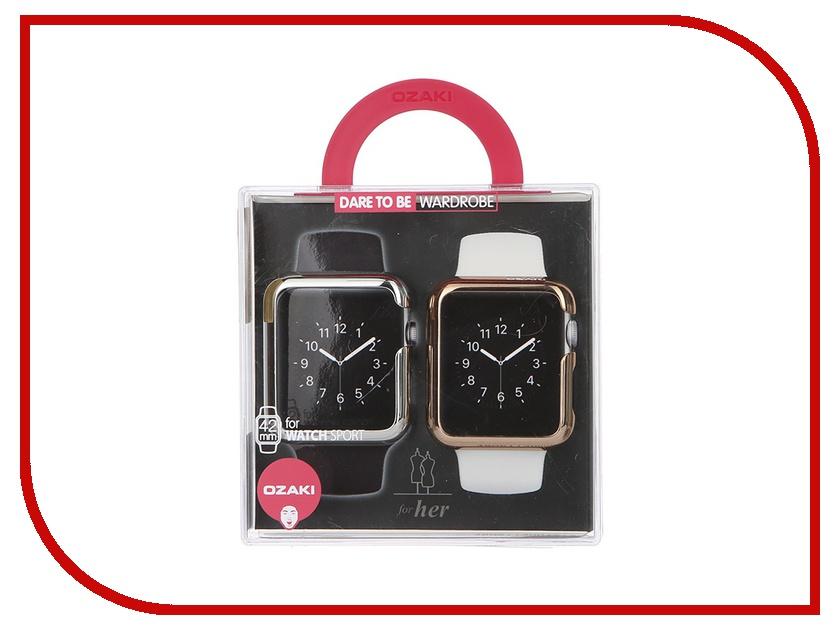 ��������� ����� �� ���� ������ APPLE Watch Sport Edition 42mm Ozaki O!coat-Wardrobe+ Silver / Gold OC661B