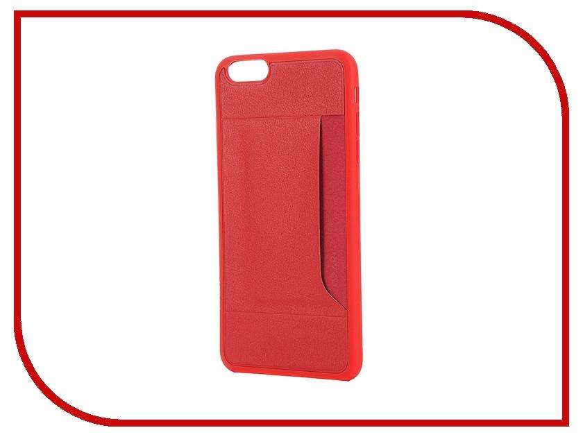 Аксессуар Чехол Ozaki 0.4 + Pocket для iPhone 6 Plus / 6S Plus OC597RD Red<br>