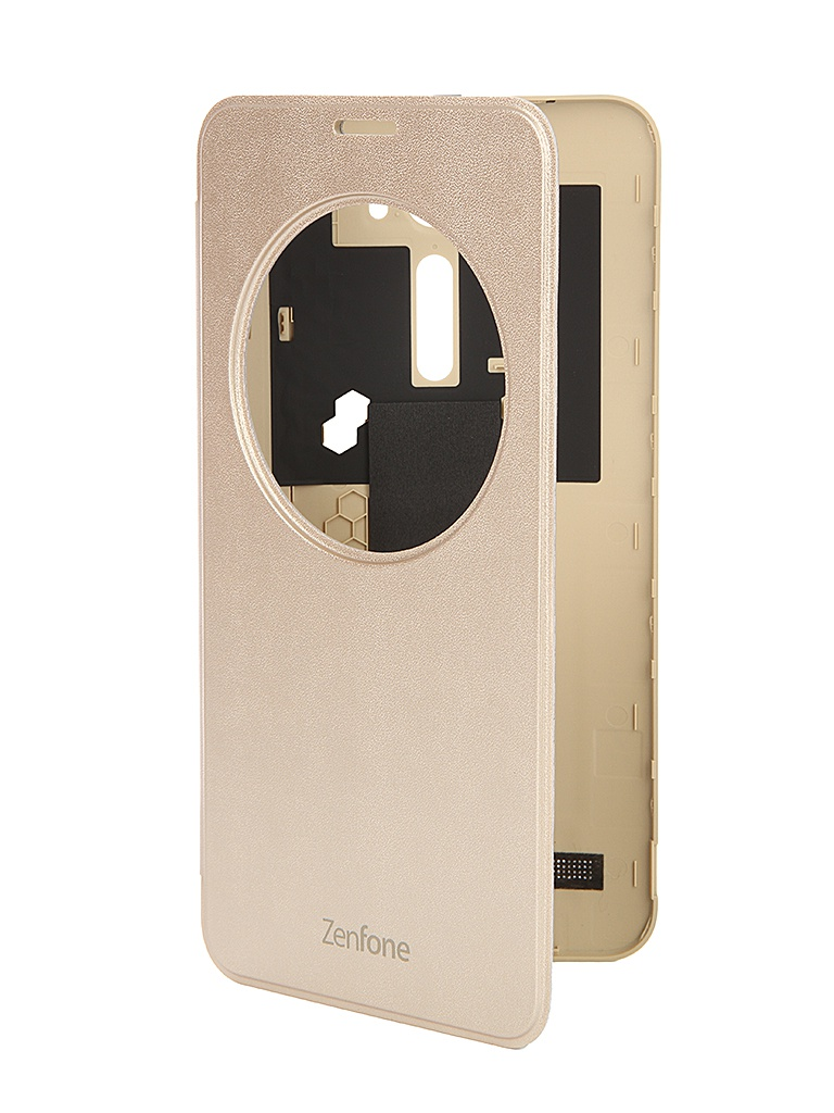 Аксессуар Чехол ASUS ZenFone 2 Laser ZE600KL/ZE601KL View Flip Cover Gold 90AC00W0-BCV002<br>
