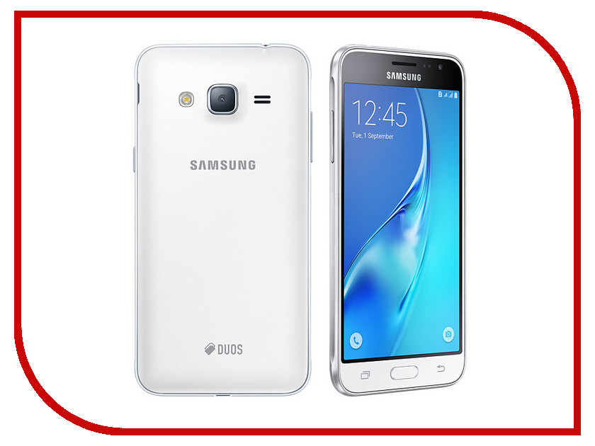 Сотовый телефон Samsung SM-J320F/DS Galaxy J3 (2016) White сотовый телефон samsung sm j320f ds galaxy j3 2016 black