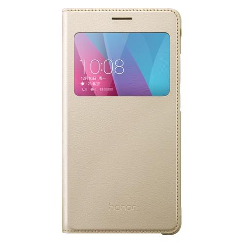 Аксессуар Чехол Huawei Honor 5X Smart Cover Gold<br>