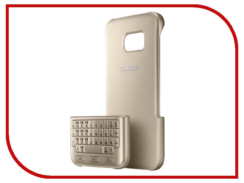 Аксессуар Чехол-клавиатура Samsung G935 Galaxy S7 Edge Keyboard Cover Gold EJ-CG935UFEGRU<br>