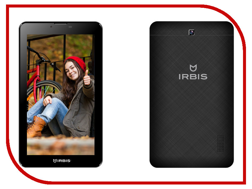 Планшет Irbis TZ41 MediaTek MTK8312 1.3 GHz/512Mb/8Gb/GPS/Wi-Fi/3G/Bluetooth/Cam/7.0/1024x600/Android<br>