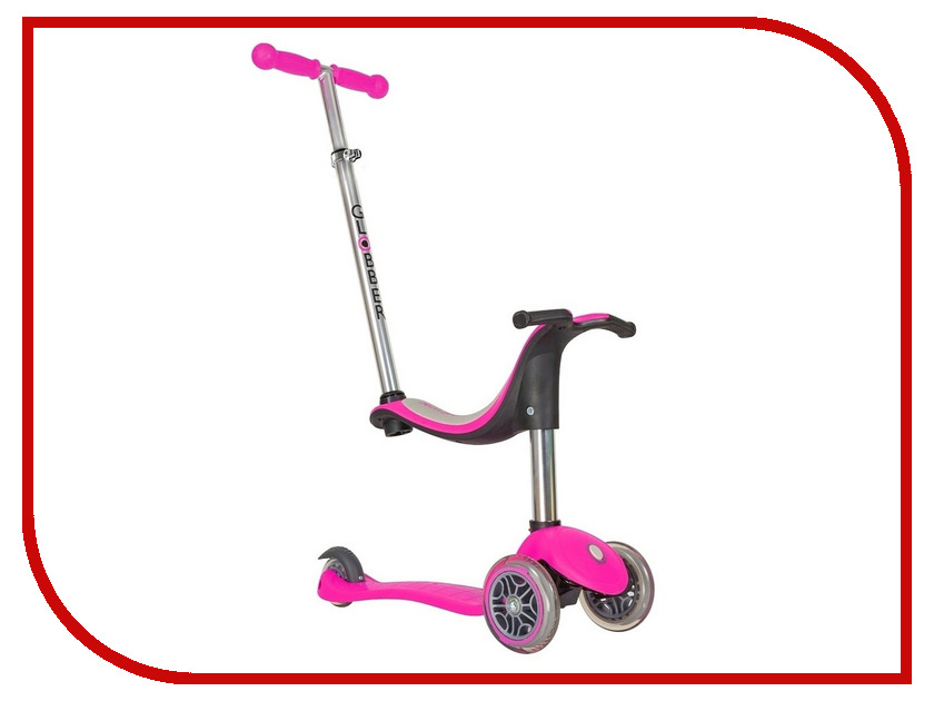 Самокат Y-SCOO RT Globber My free NEW Technology Seat 4 in 1 Pink NTGB0000450-110