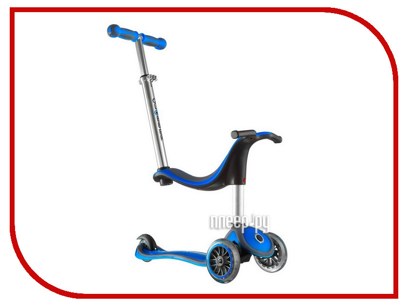 Самокат Y-SCOO RT Globber My free NEW Technology Seat 4 in 1 Blue<br>
