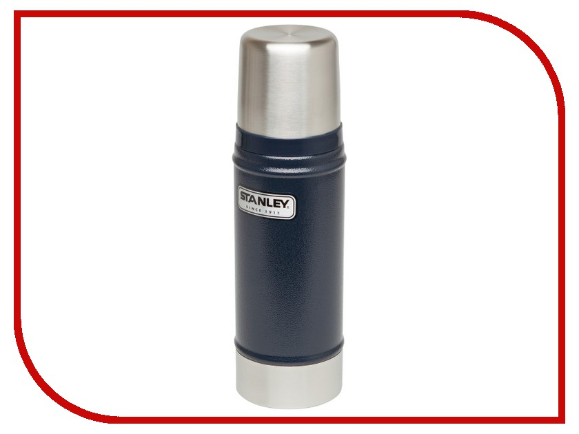 Термос Stanley Classic 470ml Dark Blue 10-01228-038 термос stanley classic vacoom flask 500ml dark blue 10 00811 013