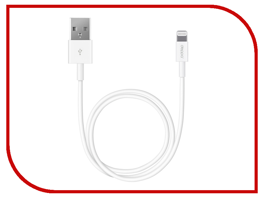 Аксессуар Deppa USB - 8-pin 1.2m White 72114<br>