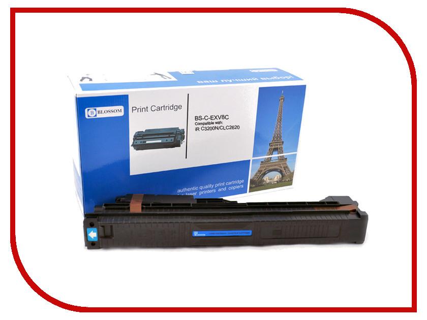 Картридж Blossom BS-C-EXV8C для Canon iR C3200N/C3220/CLC2620 Cyan<br>