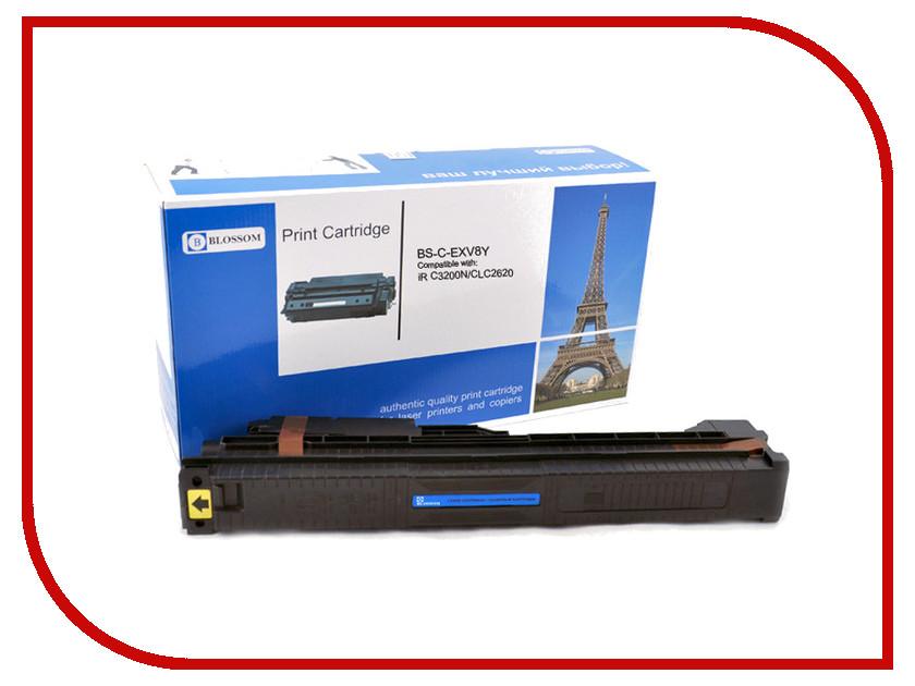 Картридж Blossom BS-C-EXV8Y для Canon iR C3200N/C3220/CLC2620 Yellow<br>