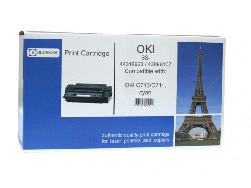 Картридж Blossom BS-44318623/43866107 для OKI C710/C711 Cyan