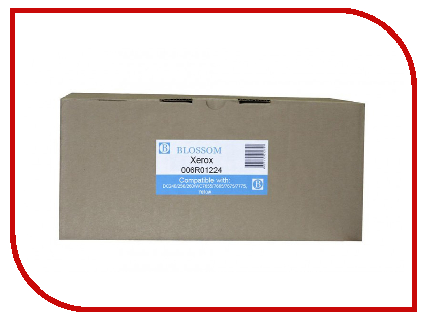 Картридж Blossom BS-X006R01224 для Xerox DC240/250/260/WC7655/7665/7675/7775 Yellow картридж blossom bs epls050611 для epson c1700 1750 cx17 yellow