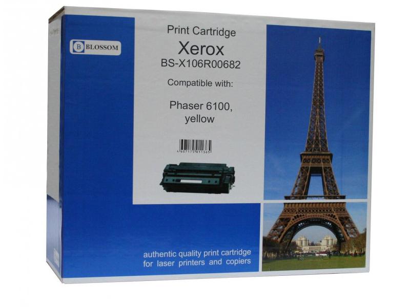 Картридж Blossom BS-X106R00682 для Xerox Phaser 6100 Yellow