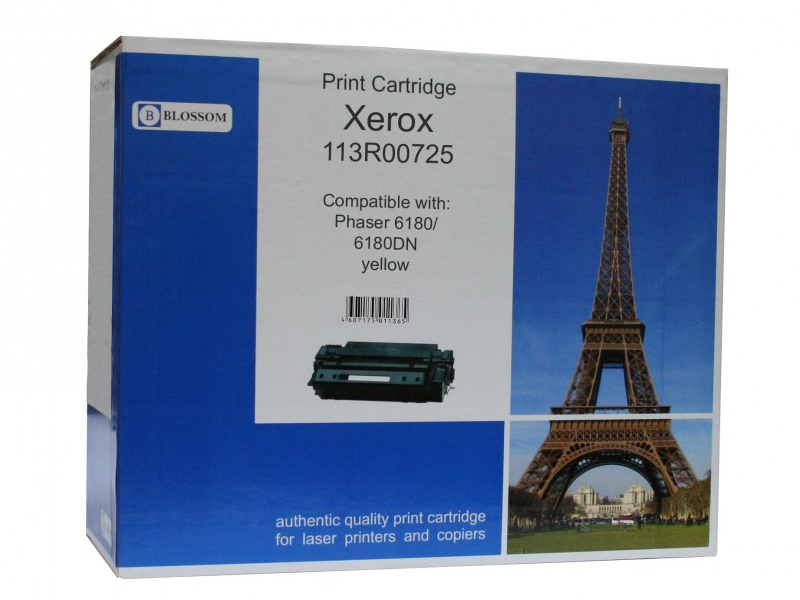 Картридж Blossom BS-X113R00725 для Xerox Phaser 6180/6180DN Yellow<br>