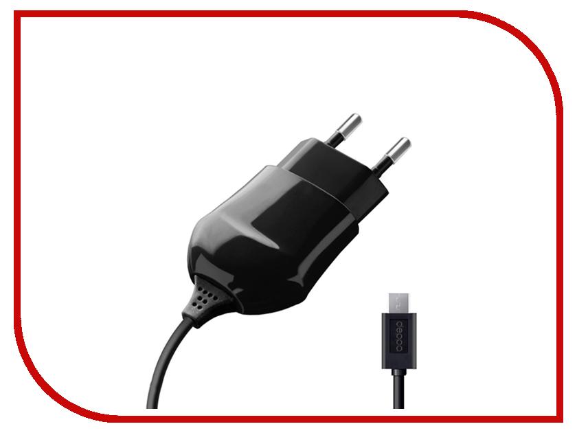 Зарядное устройство Deppa Classic micro USB 1000mA Black 23120<br>
