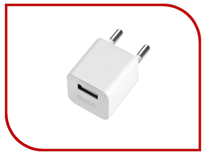 Зарядное устройство Deppa Ultra USB 1000mA White 11301