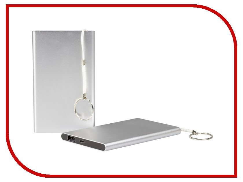 Аккумулятор eSTUFF Power Bank 4000 mAh Silver ES80184<br>