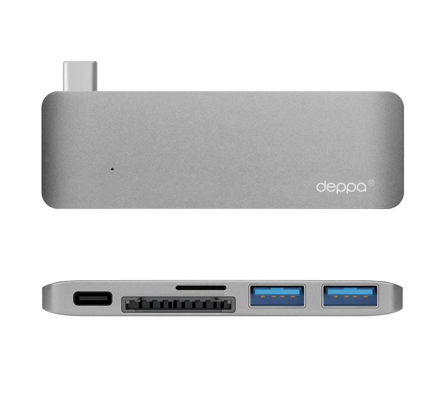 Фото - Адаптер Deppa USB-C для APPLE MacBook Graphite 72217 адаптер deppa usb c 3 5 мм usb c графит