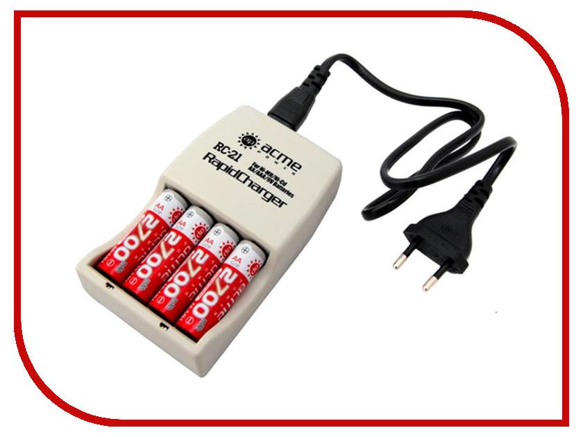 Зарядное устройство AcmePower AP RC-21 + 4 ак. AA 2700 mAh<br>