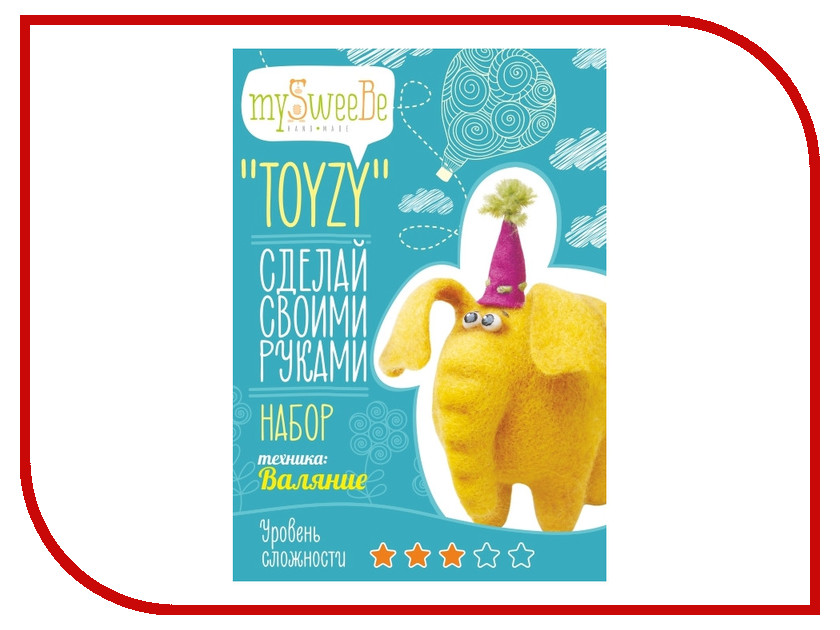 Набор для творчества mySweeBe TOYZY Слон TZ-F003 статуэтка mister christmas набор из 3 статуэток 10 см sun 3k