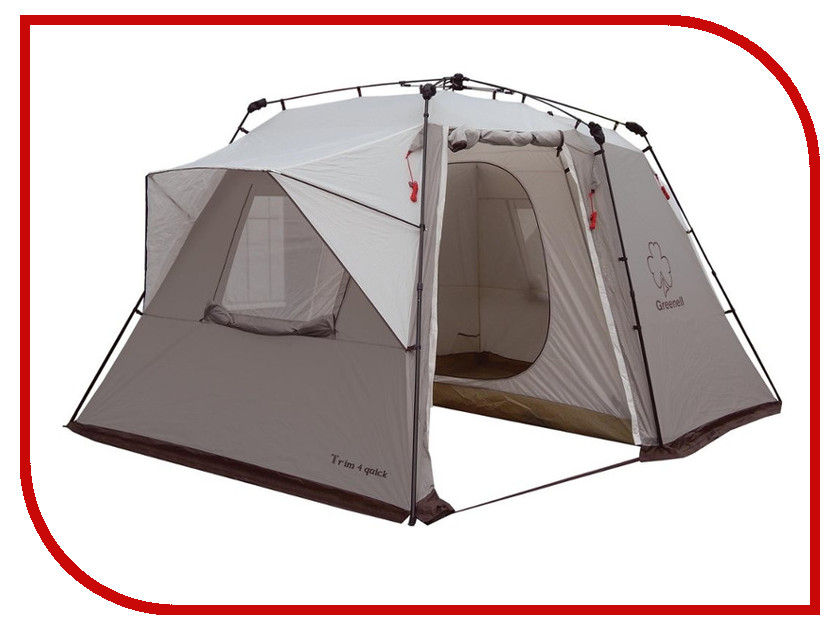 Палатка Greenell Трим 4 Квик Brown 95727-230-00 палатки greenell палатка арди 4 5