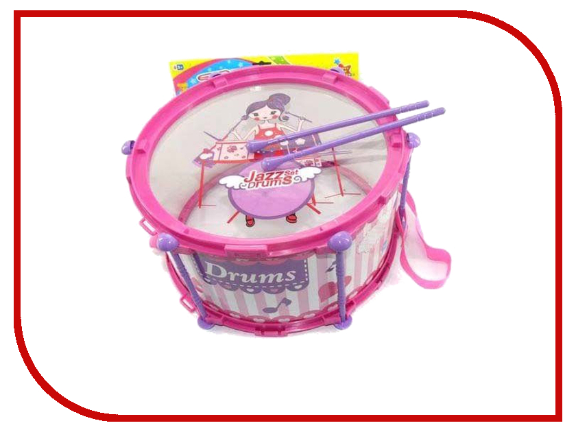 Детский музыкальный инструмент Shantou Gepai Барабан JD388B Pink детский музыкальный инструмент shantou gepai аккордеон 63717
