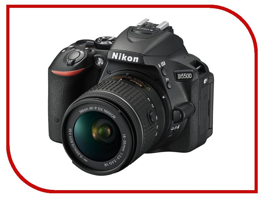 Фотоаппарат Nikon D5500 Kit 18-55 mm VR AF-P Black<br>