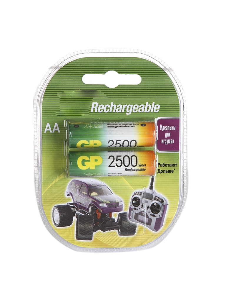Аккумулятор AA - GP R6 2500 mAh (2 штуки) GP250AAHC все цены