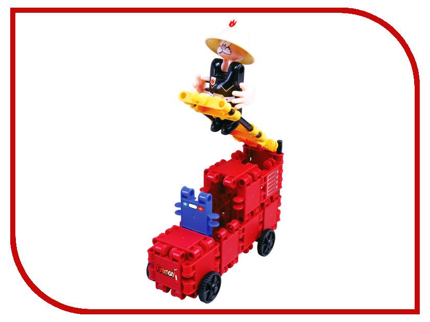 Игрушка Конструктор CLICS Пожарный и пожарная машина CC013<br>