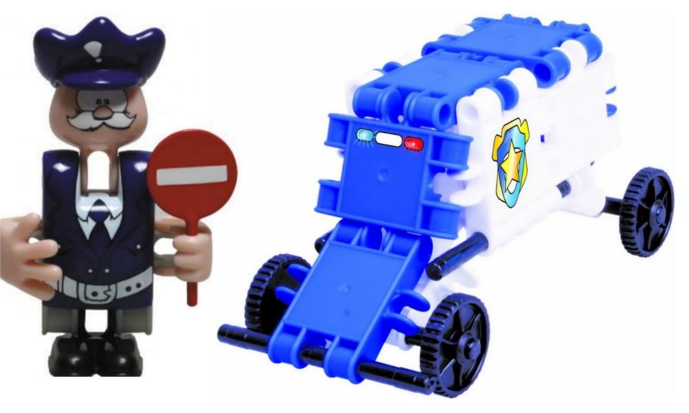 Конструктор CLICS Полицейский и патрульная машина CC015
