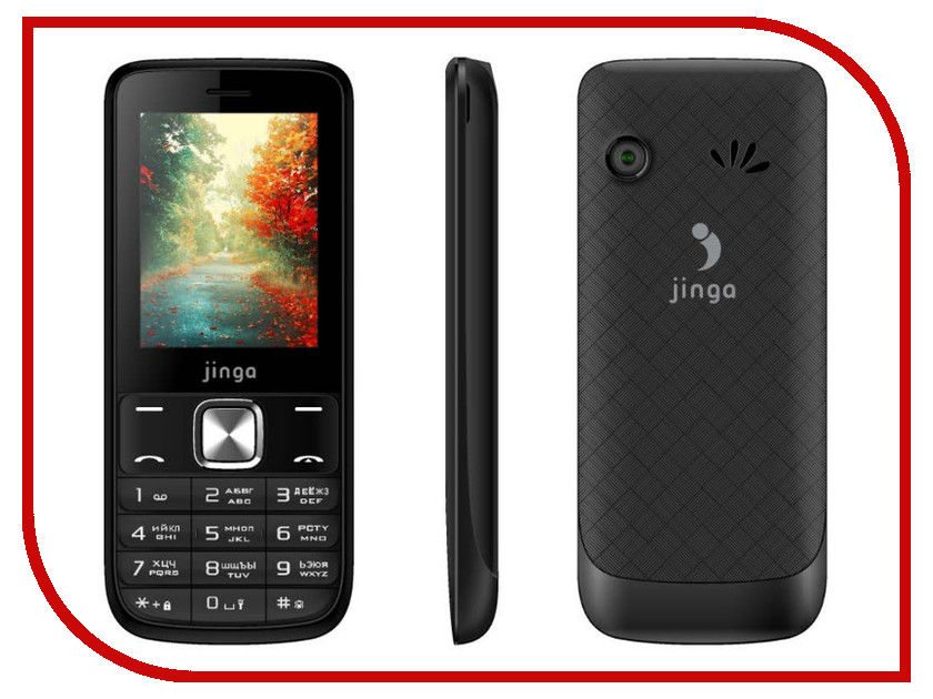 Сотовый телефон Jinga Simple F315 Black<br>