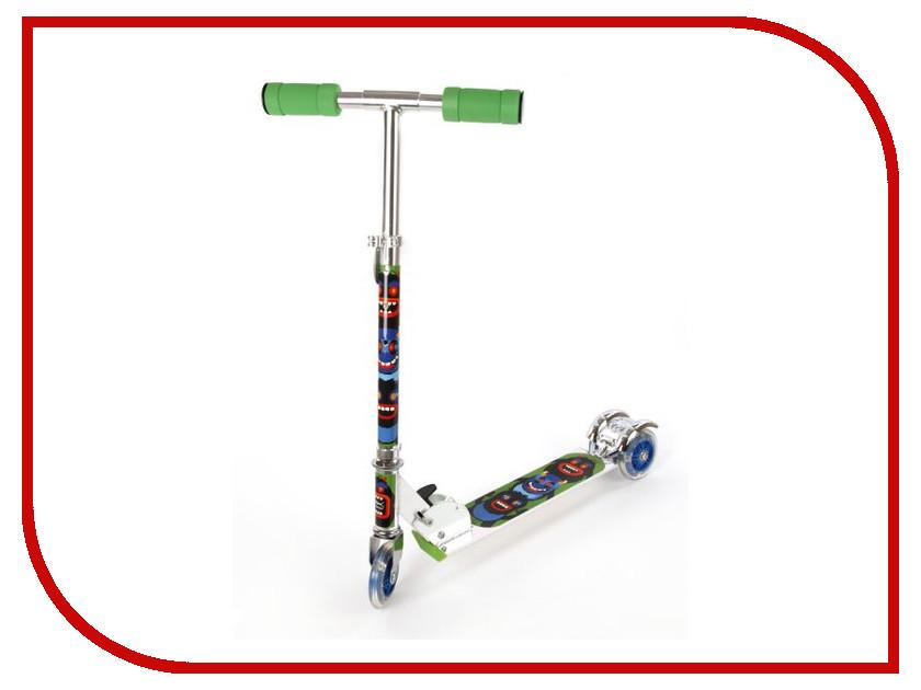 Самокат X-Match Cheerful 64653 Green самокат трехколёсный x match скутер голубой 125 мм pvc светящ 100% легкосплавн 64459