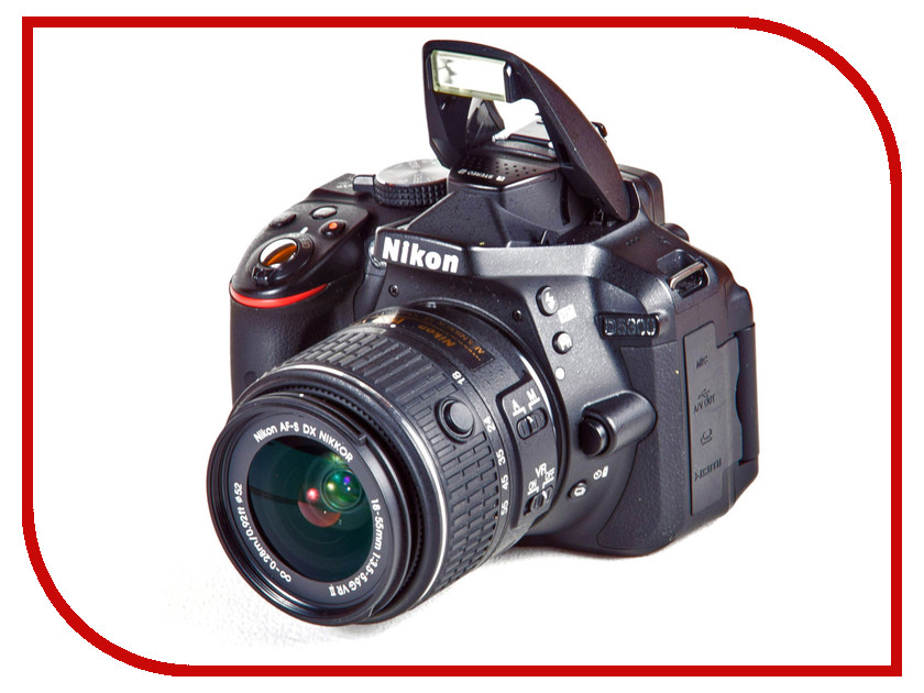 Фотоаппарат Nikon D5300 Kit 18-55 mm VR AF-P Black цифровая фотокамера nikon d5300 kit af p dx 18 55mm vr black vba370k007