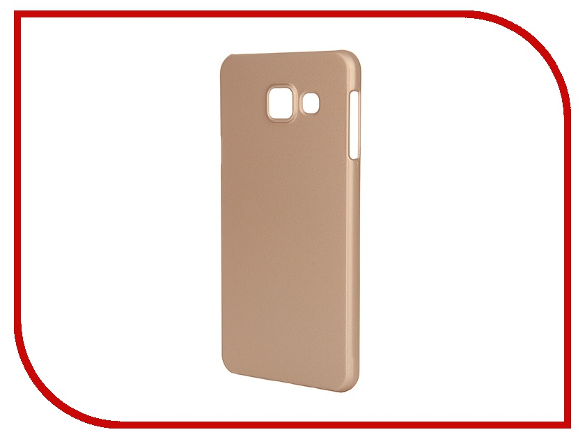 ��������� �����-�������� Samsung Galaxy A3 2016 Pulsar Clipcase PC Soft-Touch Gold PCC0188