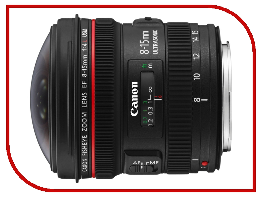 Объектив Canon EF 8-15 mm F/4.0 L USM Fisheye купить объектив 50 мм canon