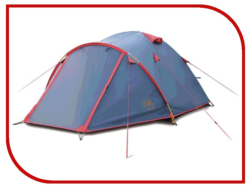 Палатка Sol Camp 4 Blue SLT-022.06 палатка sol anchor 3 blue slt 031 06