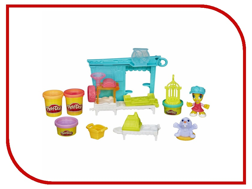 Игрушка Hasbro Play-Doh Магазинчик домашних питомцев B3418