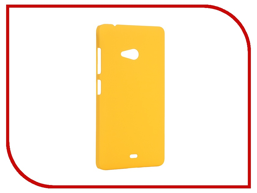 Аксессуар Чехол Microsoft Lumia 540 SkinBox 4People Yellow T-S-ML540-002 + защитная пленка<br>