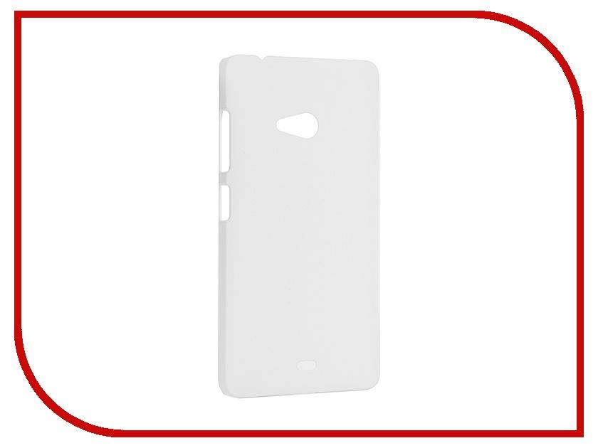 Аксессуар Чехол Microsoft Lumia 540 SkinBox 4People White T-S-ML540-002 + защитная пленка<br>