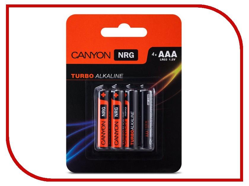 Батарейка AAA - Canyon NRG Alkaline 4pcs/pack S6ALKAAA4<br>