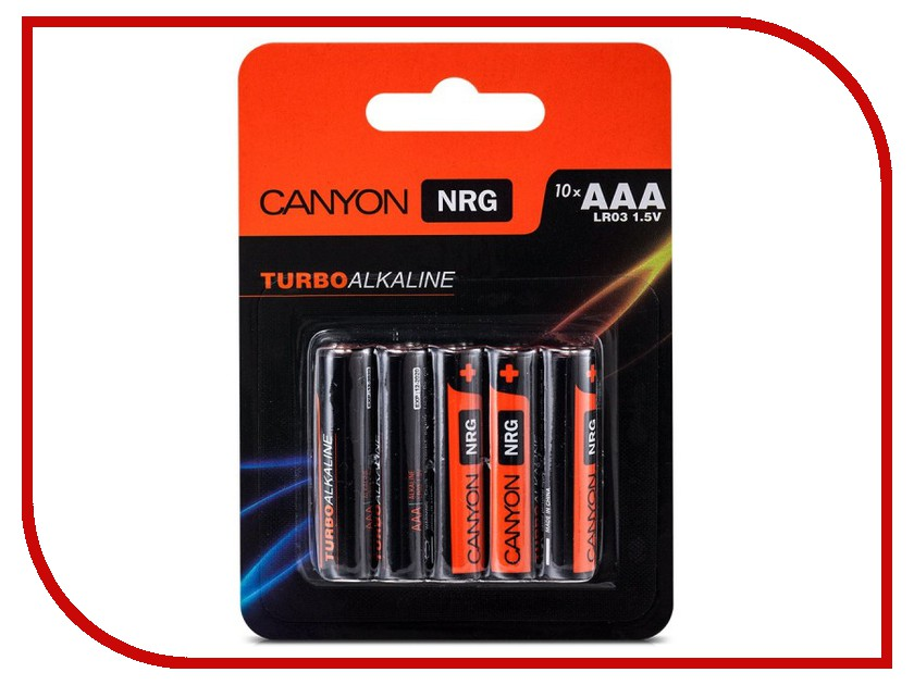 Батарейка AAA - Canyon NRG Alkaline 10pcs/pack S6ALKAAA10<br>
