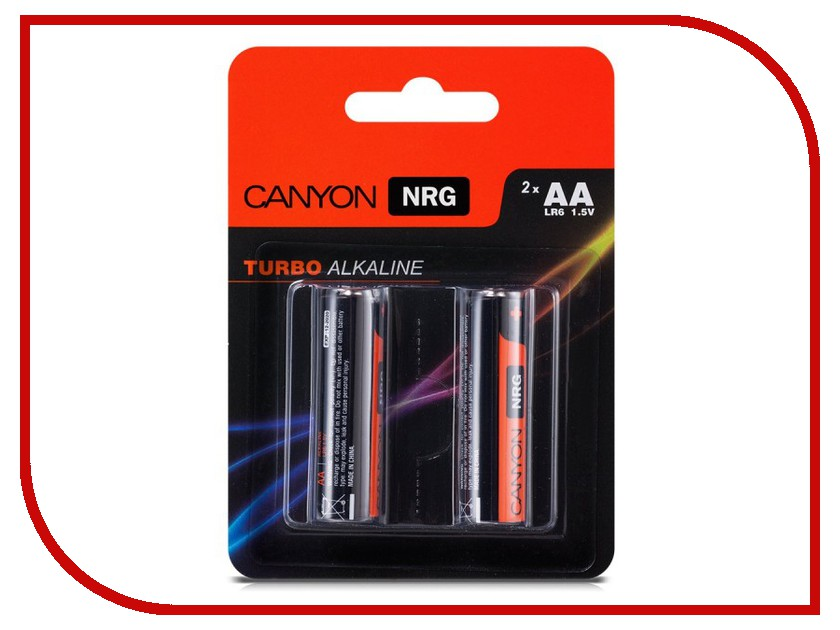 Батарейка AA - Canyon NRG Alkaline 2pcs/pack S6ALKAA2<br>