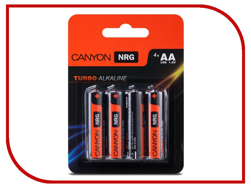 Батарейка AA - Canyon NRG Alkaline 4pcs/pack S6ALKAA4