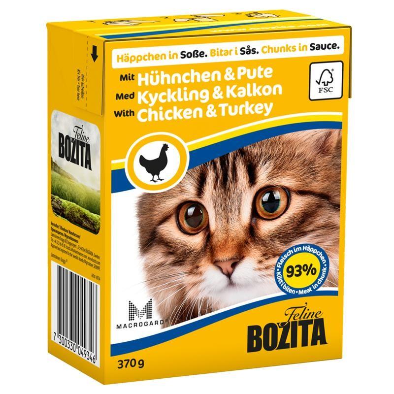 Корм BOZITA Feline Chicken &amp; Turkey 370g для кошек<br>