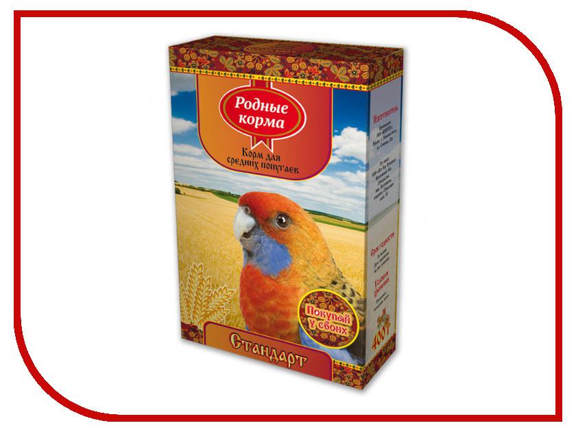 Корм Родные Корма Стандарт 400г для средних попугаев 60859